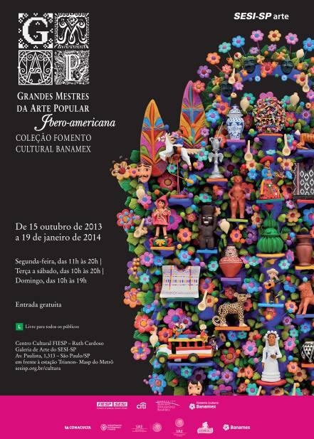Exposição Grandes Mestres da Arte Popular Iberoamérica